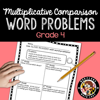 4th grade Multiplication and Division Word Problems - Clos