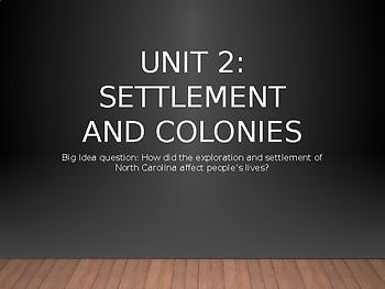 4th grade North Carolina Social Studies Unit 2