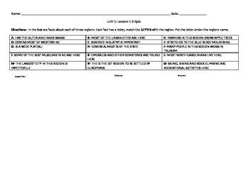 4th grade North Carolina Unit 1 Lessons 1-3 Quiz