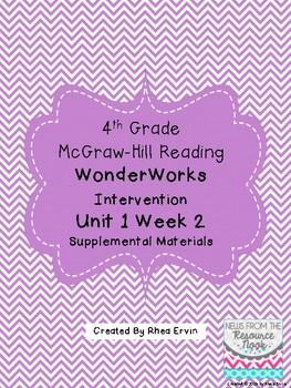 4th grade Reading WonderWorks Supplement- Unit 1 Week 2 
