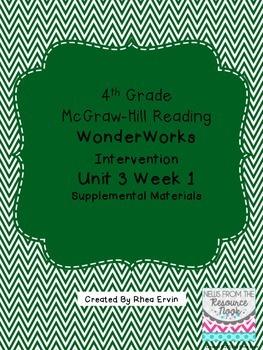 4th grade Reading WonderWorks Supplement- Unit 3 Week 1
