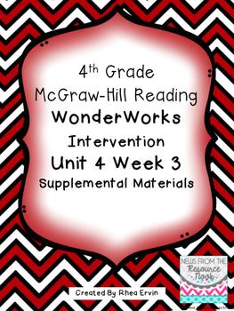 4th grade Reading WonderWorks Supplement- Unit 4 Week 3