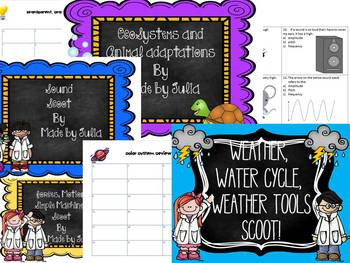 4th grade Science and Social Studies Scoot Bundle- Great f
