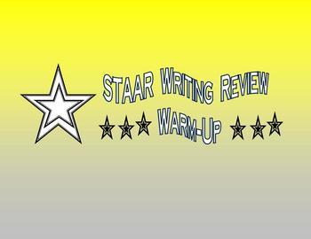 4th grade Staar Writing Review Warm-Up