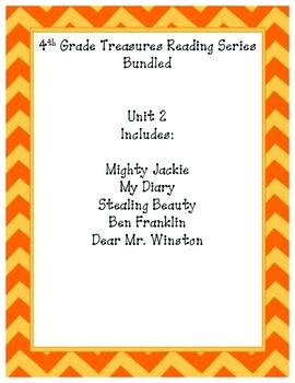 4th grade Treasures Reading Bundled-Unit 2