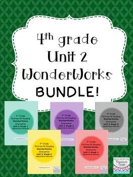 4th grade Unit 2 WonderWorks- BUNDLE!