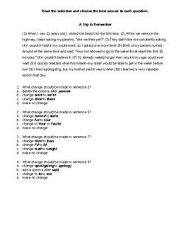 4th grade Writing STAAR homophone quiz