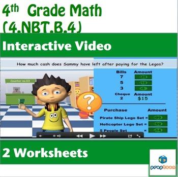 Common Core Math Activity -Add/Subtract Multi-Digit Whole