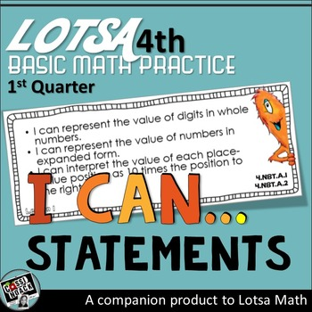 4th grade math I CAN STATEMENTS * I Can Statements 4th grade