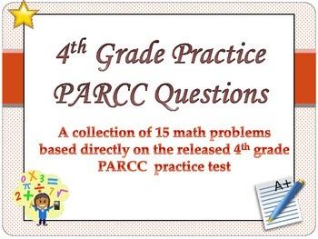 4th grade math Test Prep practice test questions- Common Core