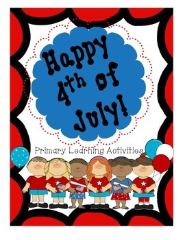 4th of July Activity Packet (literacy, writing, math)-Spec