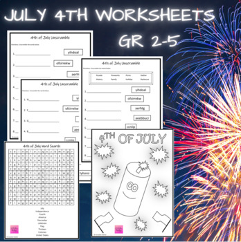 4th of July Coloring Page {FREEBIE}