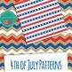 4th of July Digital Paper