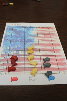 4th of July-F is for Fourth, Fish, Flag, & Freedom-Sorting