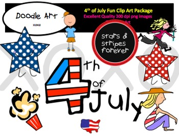 4th of July Fun Clipart Pack
