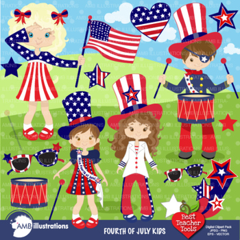 4th of July Clipart, Fourth of July clipart, Independence