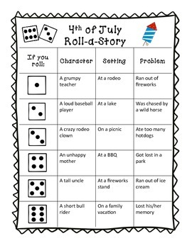 4th of July Roll-a-story
