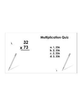 4th/5th Grade ActivInspire 5 question assessment 4.NBT.B.5