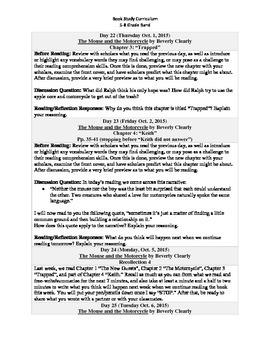 5-8 Grade Band Reading Curriculum/Program (October)