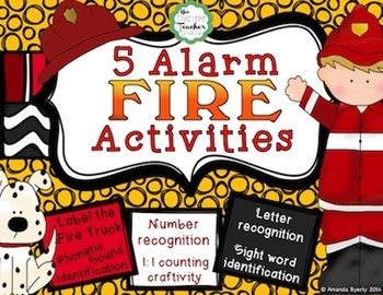 5-Alarm FIRE Activities: Letters, Sight Words, and Numbers