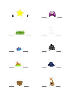 #5 Alphabet Write Beginning and Ending Consonants Pictures