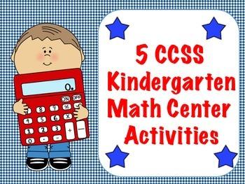 5 CCSS Kindergarten Math Center Activities