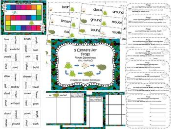 5 Centers for Frogs Gr 2 Unit 4 Week 3 vowel diphthongs {o