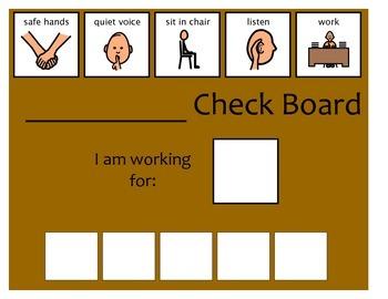 5 Check Token Board - Brown