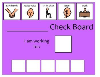 5 Check Token Board - Purple