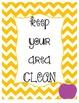 5 Classroom Rules-Multi Color Chevron Apple Theme