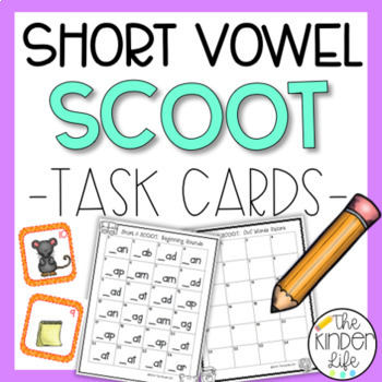 5 CvC SCOOT Games in ONE Bundle: Short Vowels A, E, I, O, and U