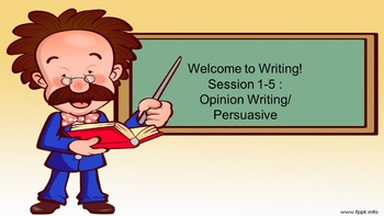 5 Day Opinion Writing/ Persuassive