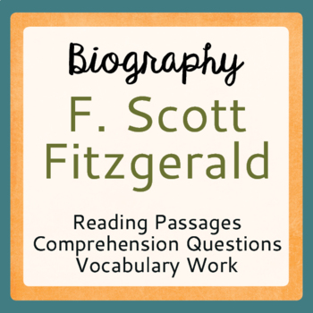 The Great Gatsby Author F. Scott Fitzgerald Biography Pass