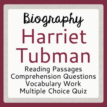Harriet Tubman Biography Informational Texts Activities