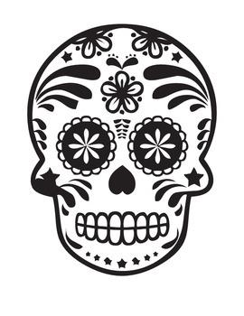 5- Dia De Los Muertos Coloring Page & Reading Comprehensio