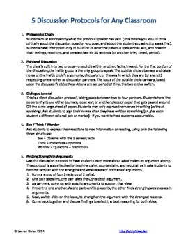 5 Discussion Protocols for ANY Classroom