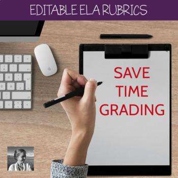 5 EDITABLE ELA Rubrics