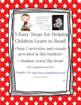 Learn to Read, 5 Easy Steps for Helping Children, Step 1,