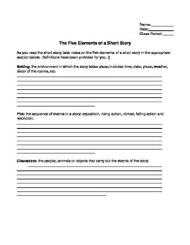 5 Elements of Short Stories