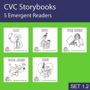 5 Emergent Readers ~ SET 1-2