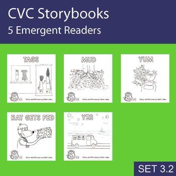 5 Emergent Readers ~ SET 3.2