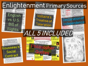 5 Enlightenment Primary Sources (with guiding questions an