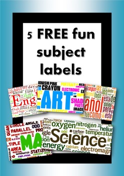 5 FREE fun subject labels