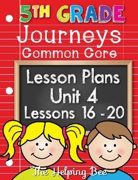 5th Fifth Grade CCSS Journeys LA Unit 4 Common Core 5 Week