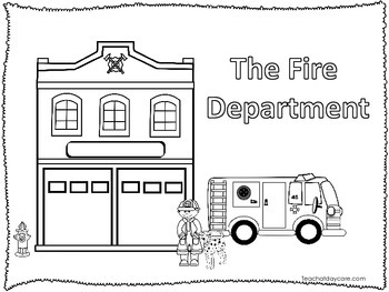 5 Fire Fighter themed Coloring Worksheets.  Homeschool edu
