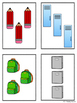 5 Frames: School Supplies Theme