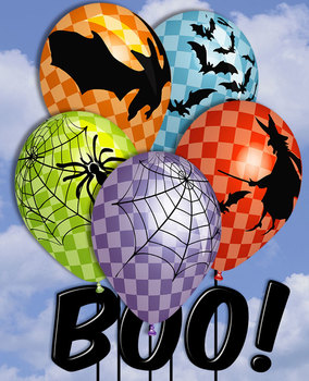 5 Free Halloween Balloons • Classroom or Party Decoration