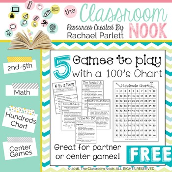 FREEBIE: 5 Games to Play With a Hundreds Chart