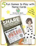 Printable Spanish Name Tags PLUS Five Games to Play with them