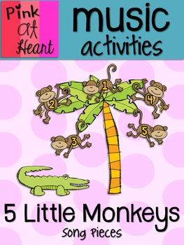 5 Little Monkeys Swinging in a Tree - Song Pieces